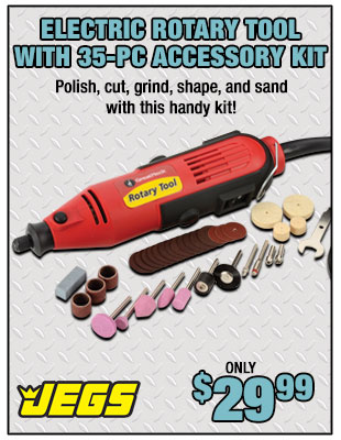 JEGS Rotary Tool with 35-Piece Accessory Kit
